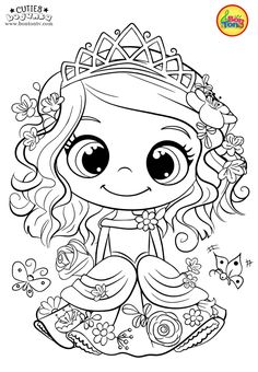 Cuties Coloring Pages for Kids – Free Preschool Printables – Slatkice Bojanke – Cute Animal Coloring Books by BonTon TV Free Kids Coloring Pages, Free Printable Coloring Sheets, Spring Coloring Pages, Unicorn Coloring Pages, Disney Coloring Pages, Animal Coloring Pages, Coloring Pages To Print, Coloring Book Pages, Coloring Pages For Kids