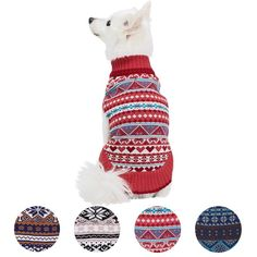 Blueberry Pet 4 Patterns Holiday Season Nordic Fair Isle Snowflake Dog Sweater >>> You can find out more details at the link of the image. (This is an affiliate link) #MyPet
