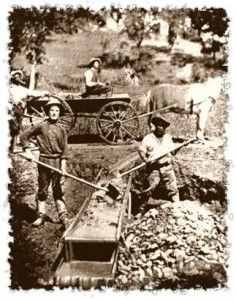 California Gold Rush Mining in 1849