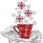 Christmas candle cross stitch free embroidery design - Machine embroidery forum