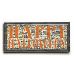 This Happy Halloween Vintage wood sign by Artist Misty Diller will add the perfect vintage vibe to your Halloween decor.