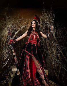 Filipino Art, Filipino Tribal, Modern Filipiniana Gown, Filipino Fashion, Spanish Dress, Tribal Costume, Gala Dresses, Ethnic Style, Costumes