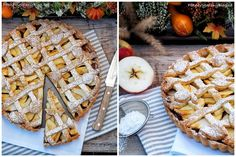 Křehký koláč s jablky (Apple pie) Apple Pie, Desserts, Food, Tailgate Desserts, Deserts, Essen, Postres, Meals, Dessert