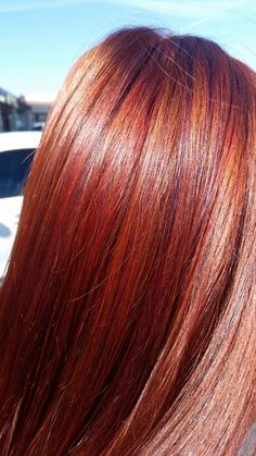 Red hair with lowlights beautiful hair colors for redheads spring hair pravana vibrant red highlights and mahogany violet lowlights with a red pmusecretfo Choice Image