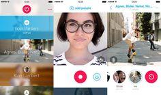 Skype Qikは、ショートビデオを個人にもグループにも送付することができる。