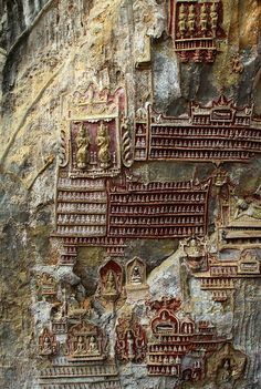 a thousand buddhas and counting, kawgun cave, near hpa-an, myanmar #buddhist
