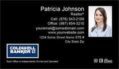 Gradient realty executives business card template design realty customizable black coldwell banker business cards for realty executives colourmoves Images