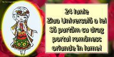 24 Iunie Ziua Universală a Iei Să purtăm cu drag portul românesc oriunde în lume!