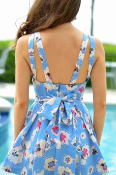 Bow back spring dress