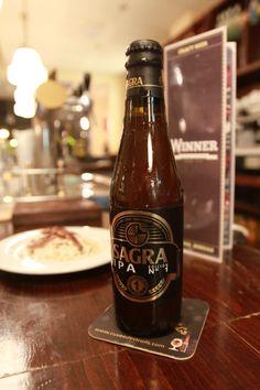 Cerveza Sagra IPA. Una cerveza toledana al mas puro estilo Indian Pale Ale de 7,2º