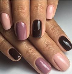 Pink Manicure Prepares For The Upcoming Summer Vacation - Page 14 of 20 - Dazhimen Love Nails, Pretty Nails, My Nails, Dark Purple Nails, Pink Nails, Purple Manicure, Green Nails, Nagel Hacks, Glittery Nails
