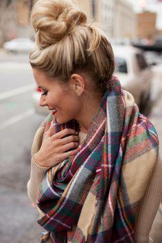 Pretty in Plaid Blanket Scarf