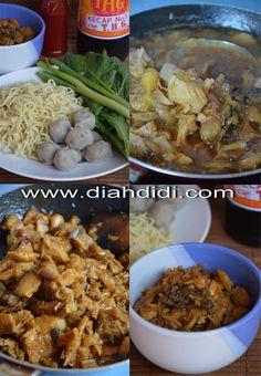 Mie Ayam Bakso Prawn Noodle Recipes, Roti Canai Recipe, Pork Recipes, Cooking Recipes, Cooking Time, Indonesian Cuisine, Indonesian Recipes, Diah Didi Kitchen, Cook N
