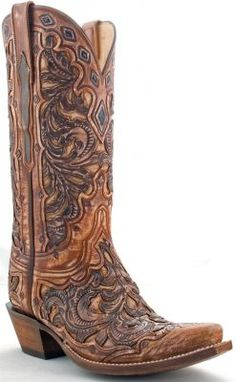 If EVER I did have boots, it'd be these. (: Womens Lucchese Classics Goat Boots