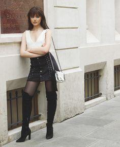 Kristina Bazan com Over The Knee Look Fashion, Fashion Outfits, Womens Fashion, Fashion Trends, Fashion Bloggers, Fashion Photo, Stylish Outfits, Monnier Freres, Kristina Bazan