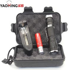 Police flashlight 3800LM CREE XML T6 led mini flashlight lanterna rechargeable lamp linterna penlight +18650 battery + charger