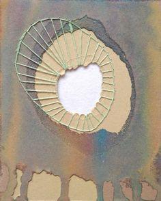 "process - Danielle Stratford - Mixed Media, Watercolor, Cotton Thread Mini Artwork -- ""In the Midst"" Mixed Media Collage, Collage Art, Art Plastique, Fabric Art, Medium Art, Art Techniques, Oeuvre D'art, Textile Art, Altered Art"