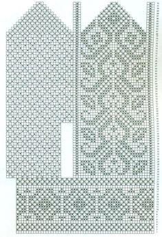 Knitted Mittens Pattern, Knit Mittens, Mitten Gloves, Knitting Charts, Knitting Patterns, Fair Isle Chart, Crochet Skirts, Drops Design, Fingerless Gloves