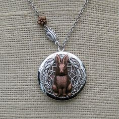 Bunny Rabbit Locket- inspired by watership down, would love to have for her when she's older!