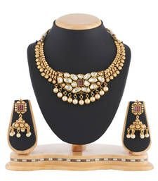 Buy Traditional Kundan Pearl Necklace set Women Jewellery necklace-set online
