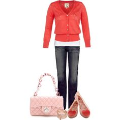 """""""Pink and Red"""" by jaycee0220 on Polyvore"""