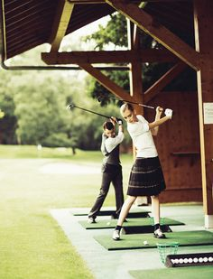 Golf Tips For Beginners Golf Driving Range - A golf break at the beautiful Evian Resort in Evian-les-Bains, France: backdrop for Madame Figaros Sept feature Golf, tee for two. Giorgio Armani, Crosse De Hockey, Evian Les Bains, Golf Etiquette, Golf Instructors, Golf Range, Golf Club Grips, Used Golf Clubs, Retro Mode