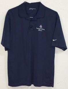 Nike Golf Dri-Fit Four Seasons Hotel Denver Mens Blue Short Sleeve Polo Shirt L #Nike #PoloRugby