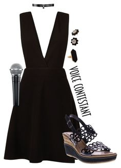 """""""Voice Contestant"""" by englinsfinefootwear ❤ liked on Polyvore featuring New Look, Azura, Fallon, Kate Spade, Jaeger, thevoice and YahooView"""