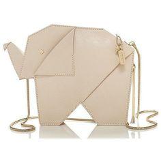 Leather elephant-shaped purse