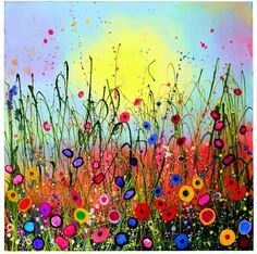 Coomber Art Gallery: Flower Glitter Art Paintings - Your Love Shines – Yvonne Coomber -Yvonne Coomber Art Gallery: Flower Glitter Art Paintings - Your Love Shines – Yvonne Coomber - Dot Painting, Painting & Drawing, Glitter Art, Spring Art, Whimsical Art, Art Plastique, Painting Inspiration, Art Lessons, Flower Art