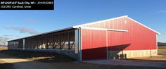 60'x210'x15' Cleary Dairy & Livestock Building in Sauk City, WI | Colors: Cardinal, Snow,