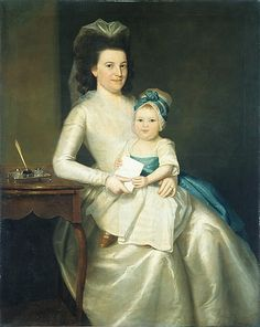 Lady Williams and Child  Ralph Earl  (American, Worcester County, Massachusetts 1751–1801 Bolton, Connecticut)  Date: 1783 Medium: Oil on canvas Dimensions: 50 1/4 x 39 3/4 in. (127.3 x 101 cm) Classification: Paintings Credit Line: Rogers Fund, 1906 Accession Number: 06.179  This artwork is currently on display in Gallery 719
