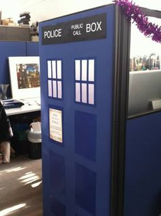 That is one way to make your cubicle seem bigger on the inside! #TARDISjoke