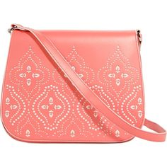 Vera Bradley Coral Laser Cut Crossbody I haven't had this purse very long but I never wear it and I am trying to save for my trip to Disney next month. Only problem is that the denim color from my jeans rubbed off onto the back. No one will know but you. Super cute color! Vera Bradley Bags Crossbody Bags