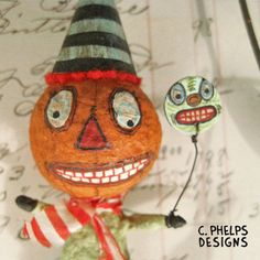 Spun Cotton Pumpkin Man Ornament