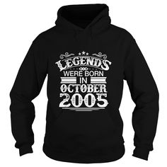 Legends Were Born In October 2005 - Birthday TShirt #gift #ideas #Popular #Everything #Videos #Shop #Animals #pets #Architecture #Art #Cars #motorcycles #Celebrities #DIY #crafts #Design #Education #Entertainment #Food #drink #Gardening #Geek #Hair #beauty #Health #fitness #History #Holidays #events #Home decor #Humor #Illustrations #posters #Kids #parenting #Men #Outdoors #Photography #Products #Quotes #Science #nature #Sports #Tattoos #Technology #Travel #Weddings #Women