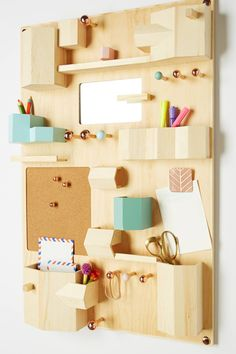 Top Ten: Best Desk Organizers — Apartment Therapy's Annual Guide 2014 Check out… Wand Organizer, Hanging Organizer, Hanging Storage, Wooden Organizer, Dorm Storage, Smart Storage, Office Storage, Wall Storage, Diy Rangement