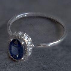 Sapphire 9 Ct White Gold Ring by Mairi Burrow Designer Engagement Rings, Vintage Engagement Rings, White Gold Rings, Creative Design, Most Beautiful, Sapphire, Gemstone Rings, Designers, Shapes