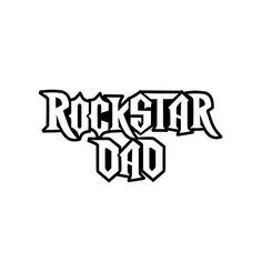 ROCKSTAR DAD VINYL STICKER