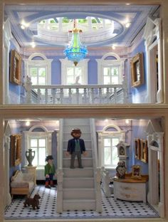 Playmobil By Emma.J - Houghton Hall Houghton Hall, Playmobil Sets, Toys In The Attic, Battery Operated Lights, Mansion Interior, Dollhouse Furniture, Dollhouse Ideas, Miniature Rooms, Tiny World