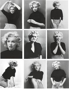 vintagemarlene:  marilyn contact sheet