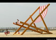 Giant deckchair created by Stuart Murdoch for Pimm's British Summer Time #geographyteacher