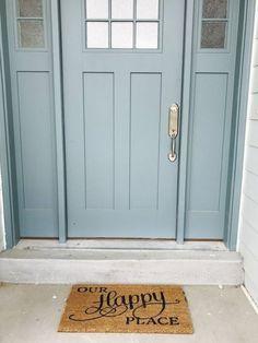 This Craftman Door Color is Aegean Teal by Sherwin Williams. Blue Do. This Craftman Door Color is Aegean Teal by Sherwin Williams. Blue Do. Teal Front Doors, Front Door Paint Colors, Exterior Paint Colors For House, Painted Front Doors, Paint Colors For Home, Blue Doors, Teal Door, Paint Colours, Front Door Painting