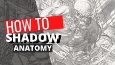 How to Shadow Anatomy Comic Drawing, Manga Drawing, Comic Art, Comic Books, Hard Part, Art Studies, Simple Shapes, Art Tips, Book Illustration