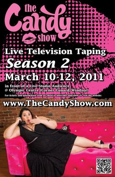 Comedian Candy Palmater, poster of Season 2 of her hit national variety TV series, on APTN, The Candy Show, follow her on twitter https://twitter.com/TheCandyShow