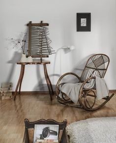 A ceramic vase by Anna Manako of Manako Design sits on a funky wooden table from the 1980s in the primary bedroom. #dwell #rentalrevamp #renovation #moderndesign Green Initiatives, Step Inside, Wishbone Chair, Wooden Tables, Prefab, Ceramic Vase, Modern House Design, Modern Chairs, Design Projects