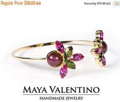 Swarovski Bracelet bridal Bracelet 14K gold by MayaValentino