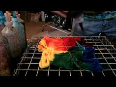How to Tie Dye Swirl with Stripes (Stained Glass) - YouTube - MY FAVORITE ONE!!!!!!!!!!