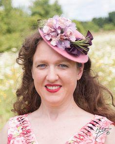 Hat 1940s Tilt Perch Doll Hat Fascinator in by LadyEveMillinery, $95.00
