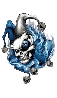 Jester Tattoo, Clown Tattoo, Badass Drawings, Dark Art Drawings, Skull Hand Tattoo, Skull Tattoos, Graffiti Tattoo, Graffiti Art, Wolf Sleeve